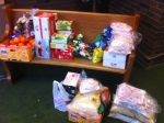 Record breaking food donation from one neighbour household.